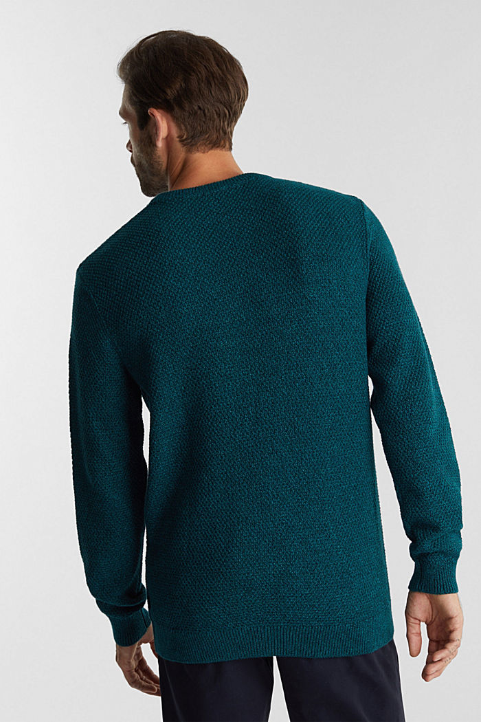 Jumper made of 100% organic cotton, TURQUOISE, detail image number 3