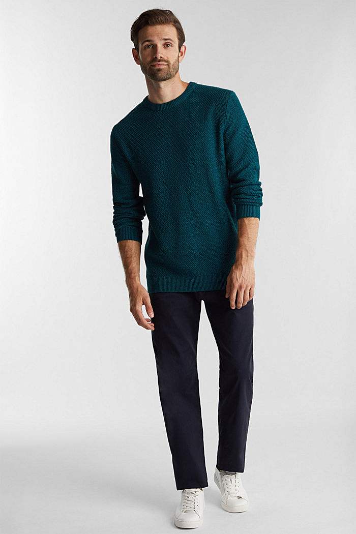 Jumper made of 100% organic cotton, TURQUOISE, detail image number 1