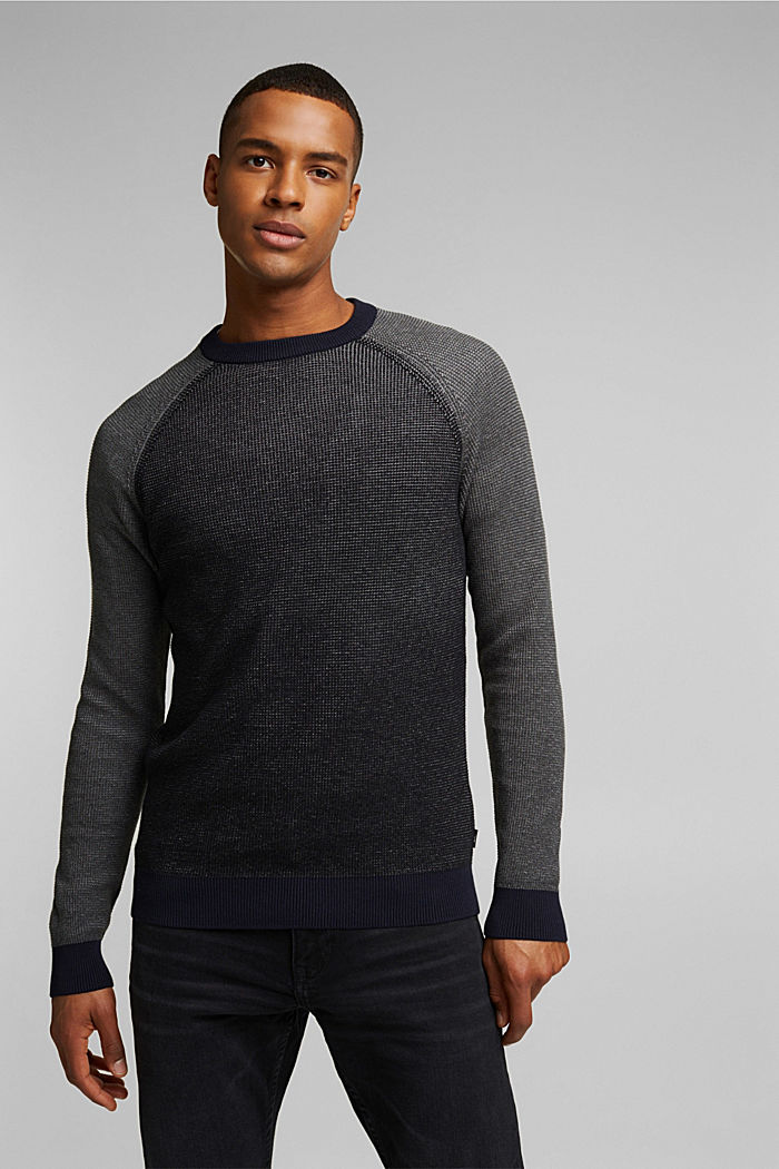 Pullover aus 100% Organic Cotton, BLACK, detail image number 0