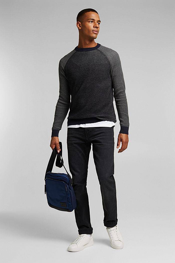 Pullover aus 100% Organic Cotton, BLACK, detail image number 1