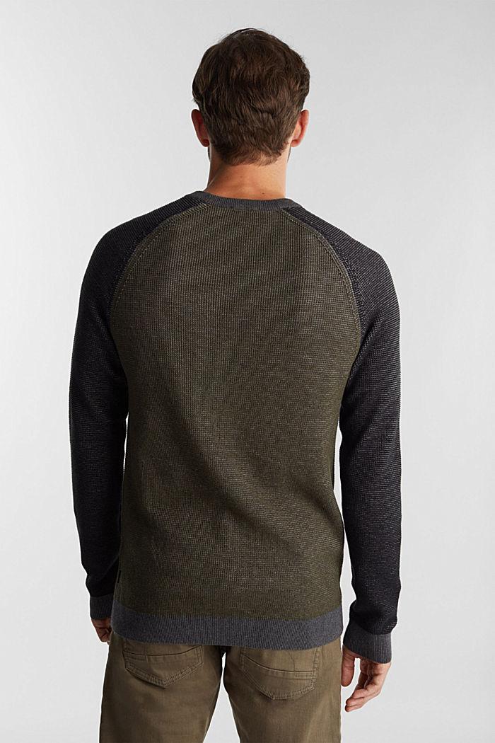 Pullover aus 100% Organic Cotton, KHAKI GREEN, detail image number 3