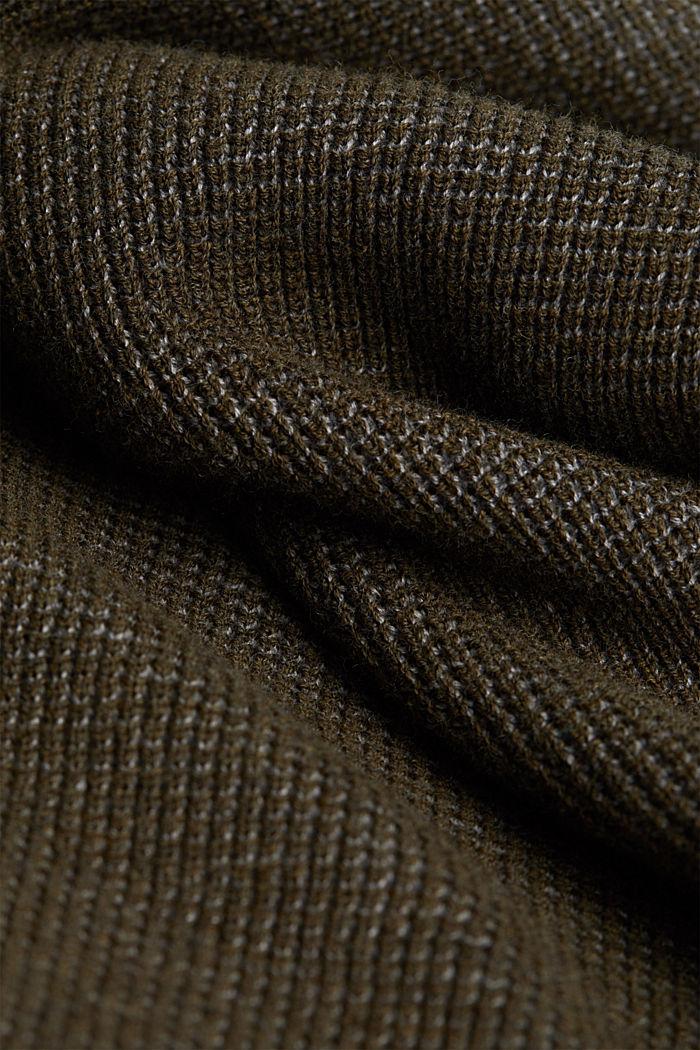 Pullover aus 100% Organic Cotton, KHAKI GREEN, detail image number 4