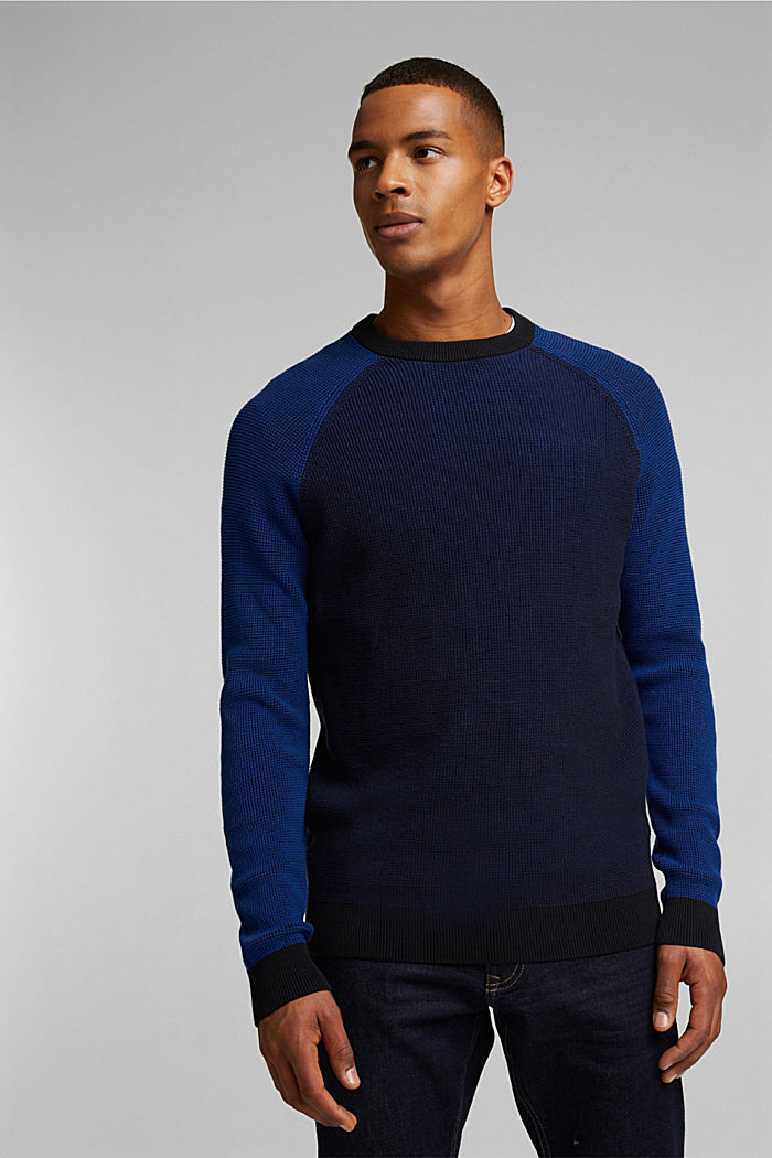 Pullover aus 100% Organic Cotton, NAVY, detail image number 0