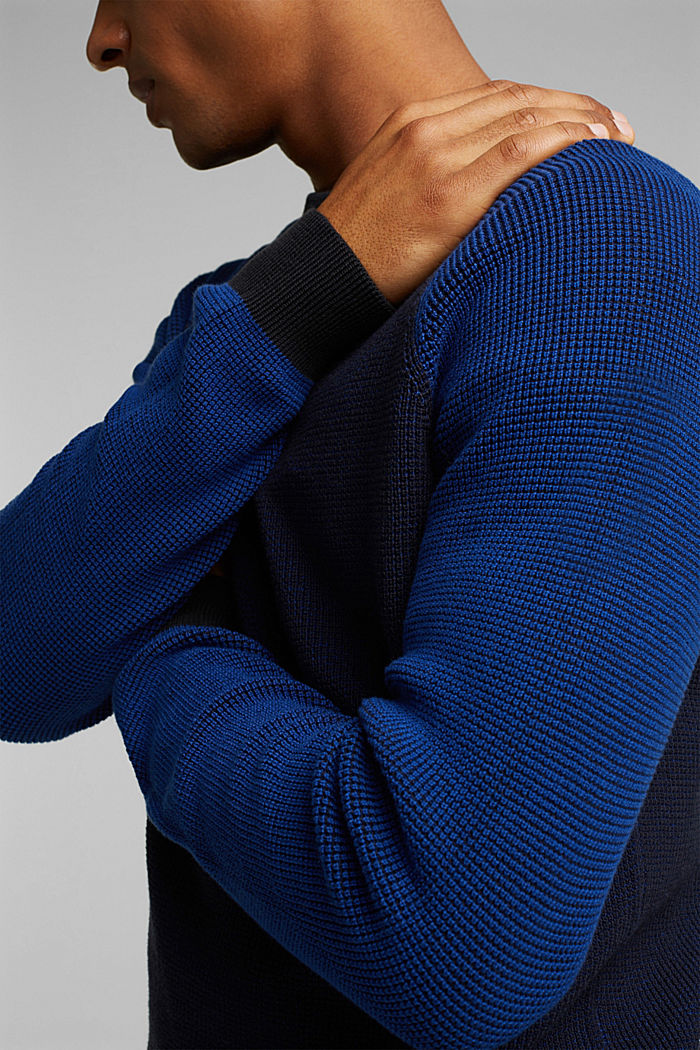 Pullover aus 100% Organic Cotton, NAVY, detail image number 2