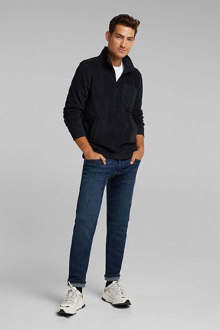 Fleece sweatshirt, BLACK, detail image number 1