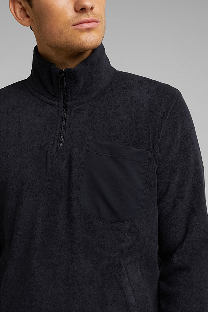 Fleece sweatshirt, BLACK, detail image number 2