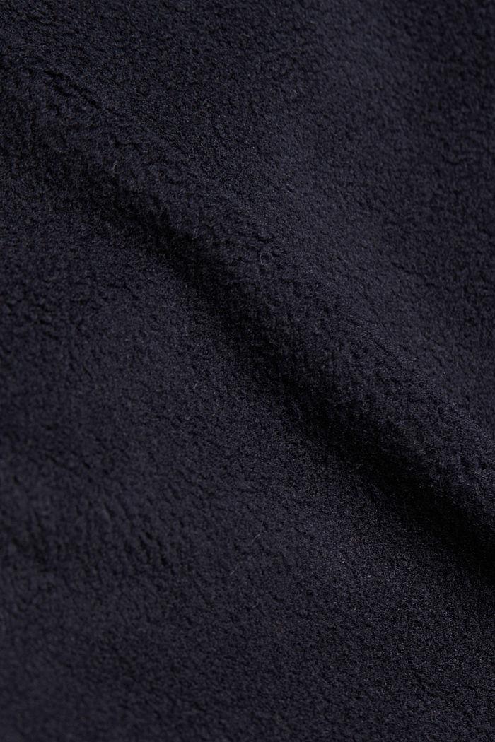 Fleece sweatshirt, BLACK, detail image number 4