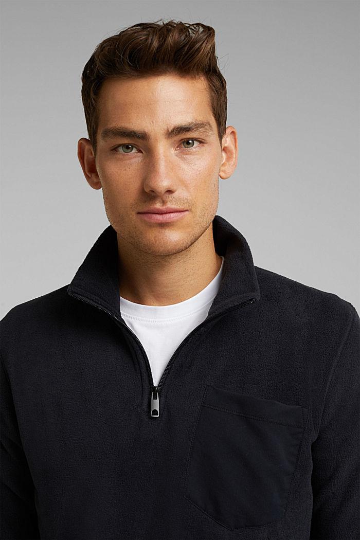 Fleece sweatshirt, BLACK, detail image number 5