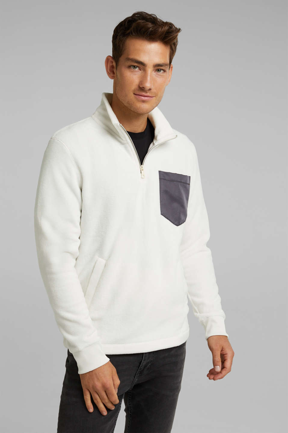 edc - Sweat-shirt en maille polaire
