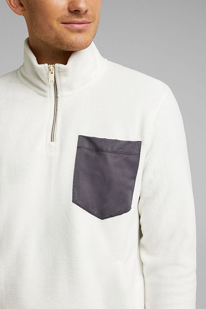 Fleece sweatshirt, OFF WHITE, detail image number 2