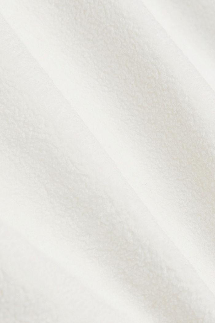 Fleece sweatshirt, OFF WHITE, detail image number 4