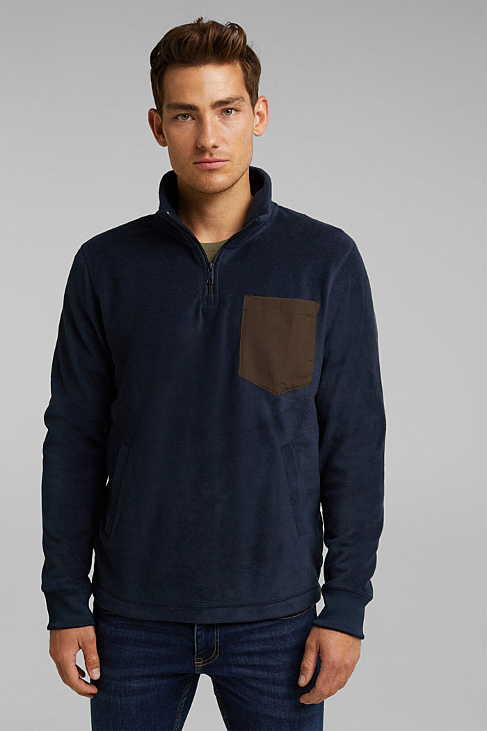 Fleece sweatshirt, DARK BLUE, detail image number 0