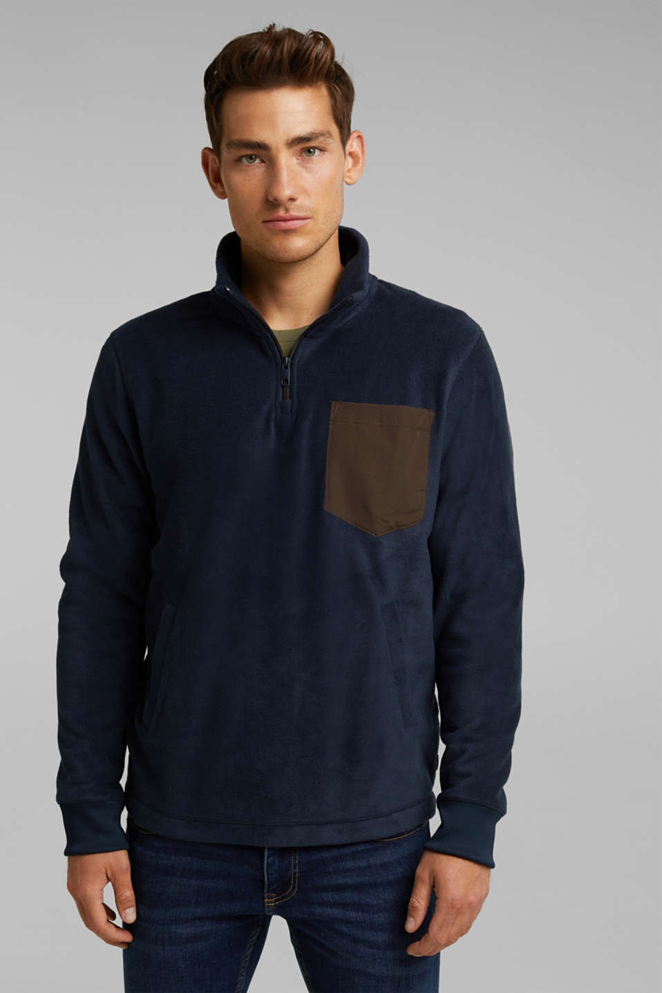 edc - Sweatshirt van fleece