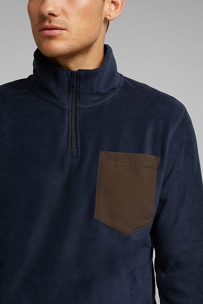 Fleece sweatshirt, DARK BLUE, detail image number 2