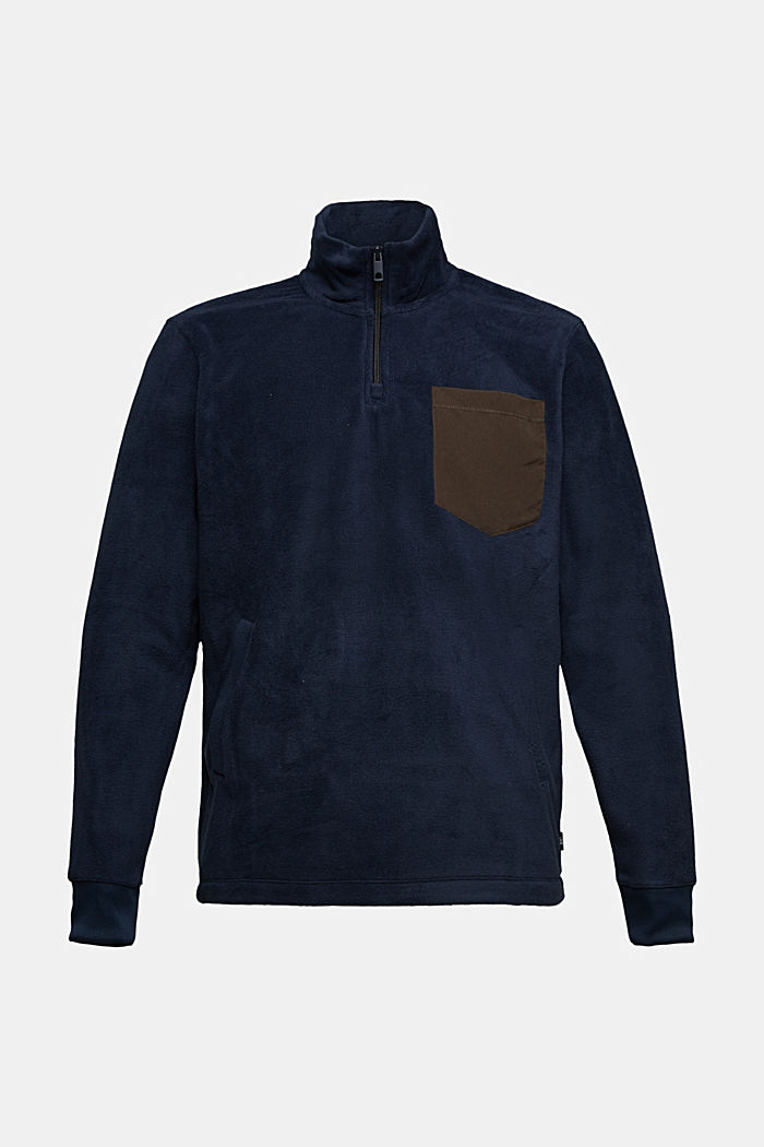 Fleece sweatshirt, DARK BLUE, detail image number 5