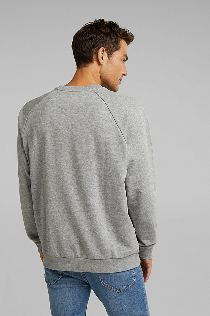 Sweatshirt mit Organic Cotton, MEDIUM GREY, detail image number 3