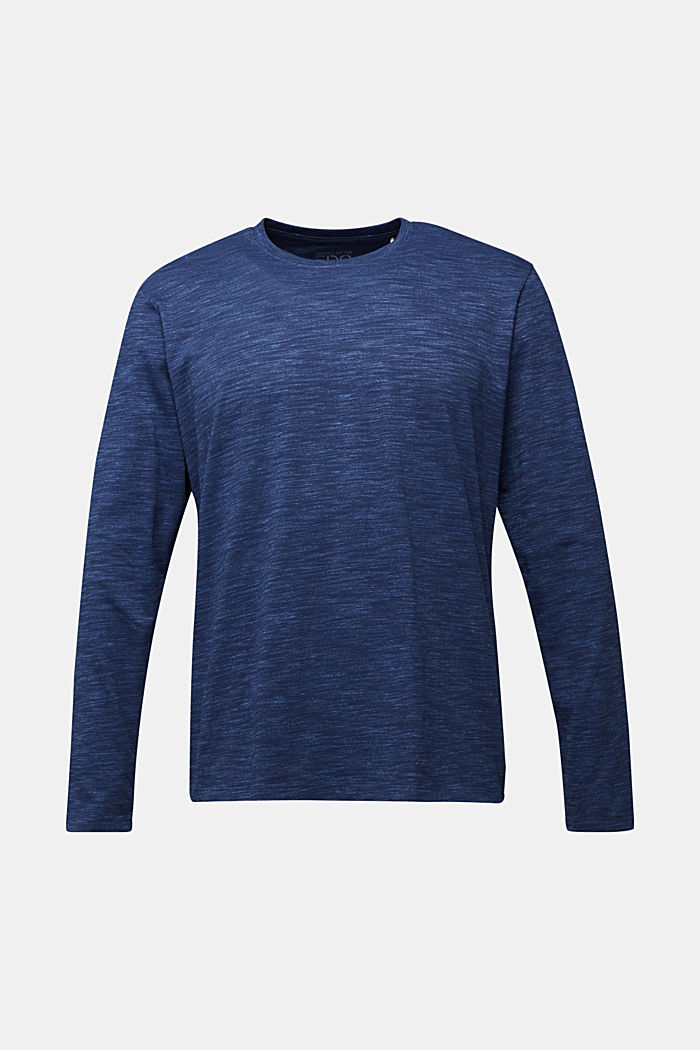 Longsleeve mit Organic Cotton, NAVY, detail image number 5