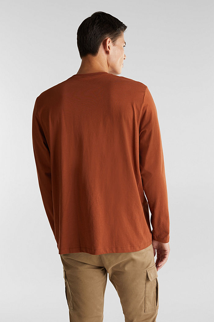 Long sleeve top made of 100% organic cotton, CARAMEL, detail image number 3