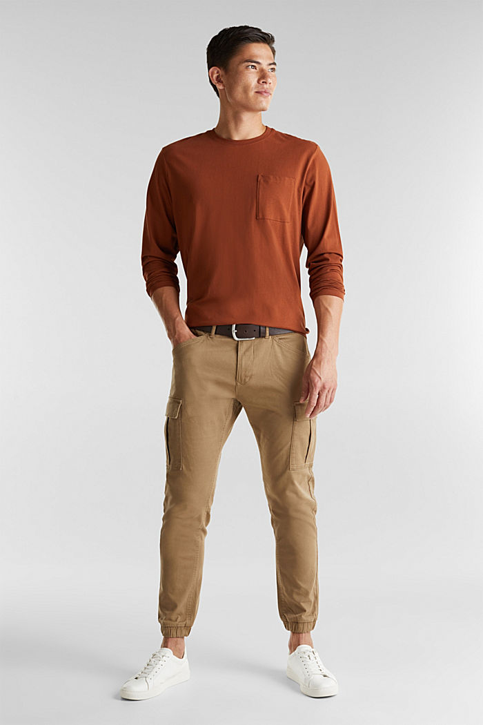 Long sleeve top made of 100% organic cotton, CARAMEL, detail image number 2