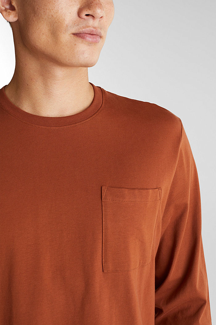 Long sleeve top made of 100% organic cotton, CARAMEL, detail image number 1