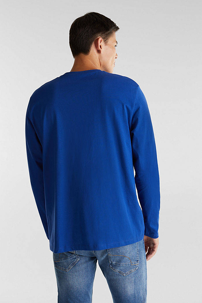 Long sleeve top made of 100% organic cotton, BLUE, detail image number 3