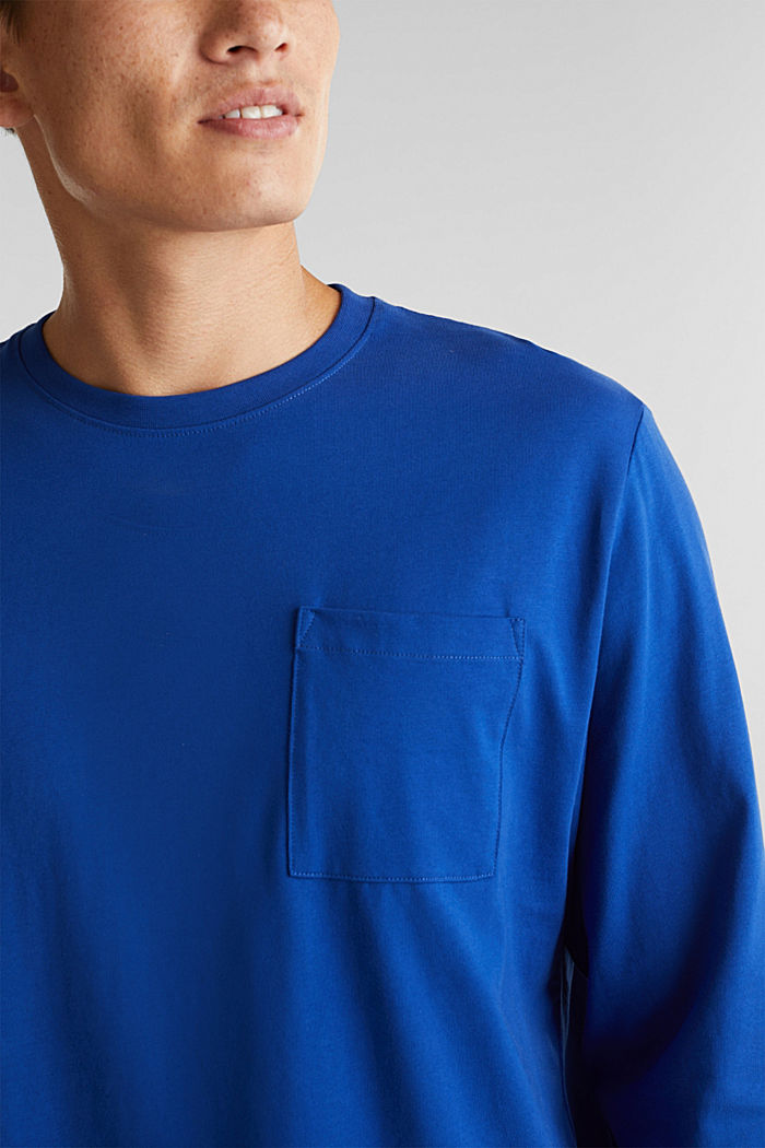 Long sleeve top made of 100% organic cotton, BLUE, detail image number 1