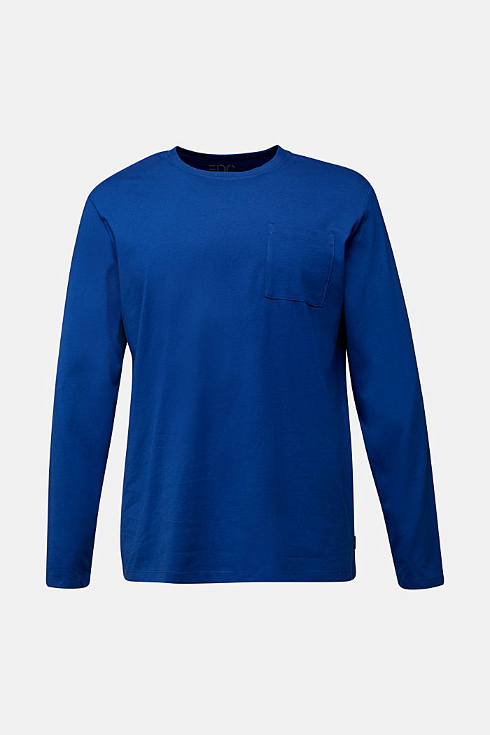 Long sleeve top made of 100% organic cotton, BLUE, detail image number 5