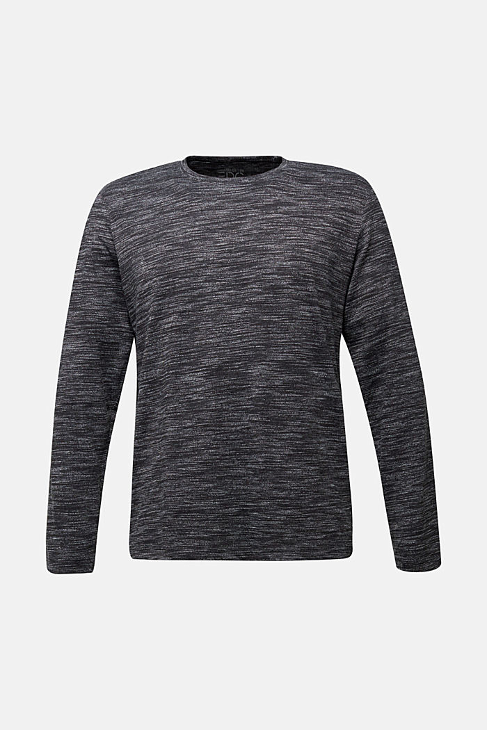 Jersey long sleeve top with organic cotton, BLACK, detail image number 6