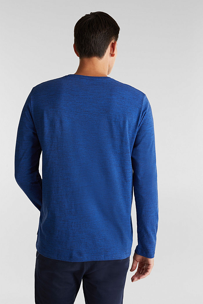 Jersey long sleeve top with organic cotton, INK, detail image number 3