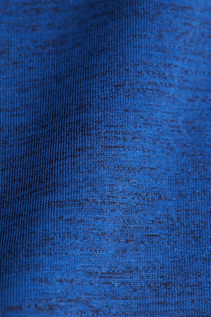 Jersey long sleeve top with organic cotton, INK, detail image number 4