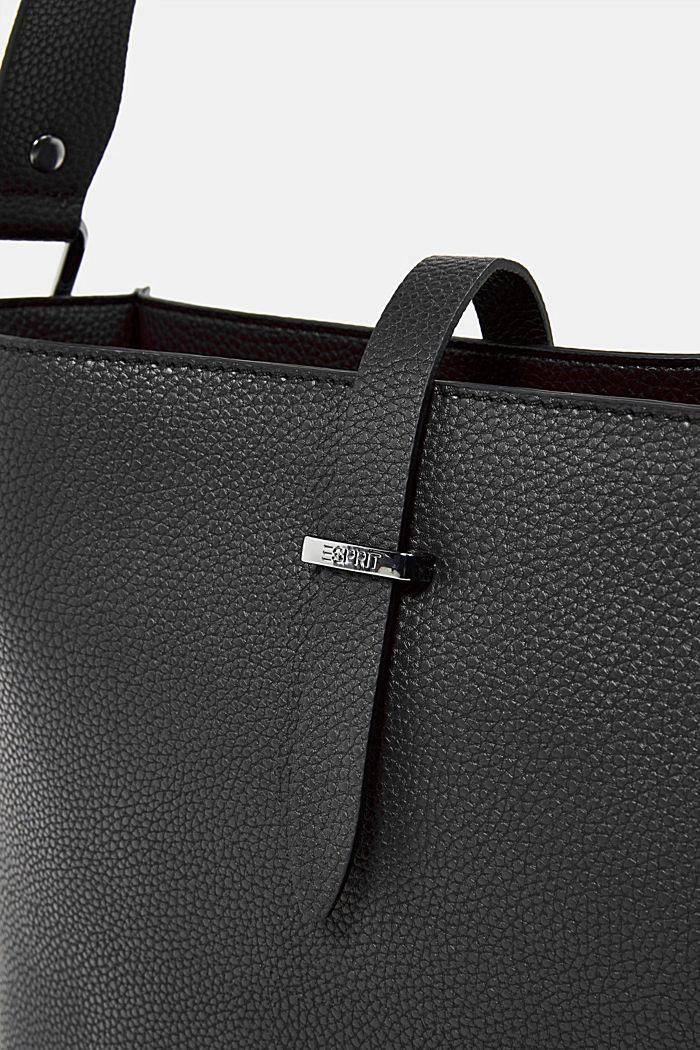 Vegan: faux leather shoulder bag, BLACK, detail image number 5