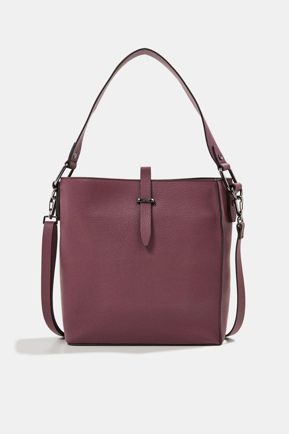 Esprit - Vegan: faux leather shoulder bag