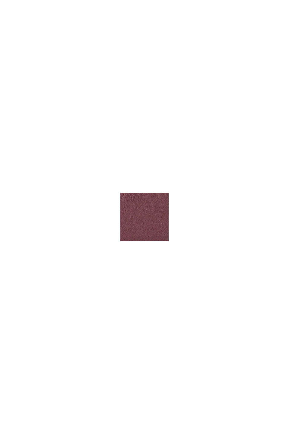 Vegansk: axelremsväska i skinnlook, BORDEAUX RED, swatch