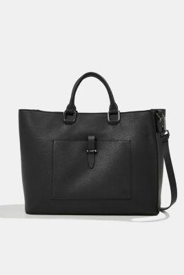 Vegan: Business bag with a laptop pouch, BLACK, detail