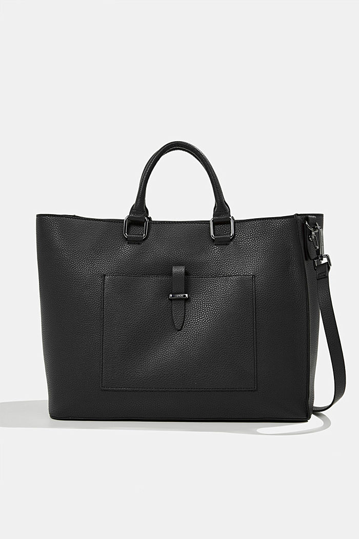 Vegan: Business bag with a laptop pouch, BLACK, detail image number 0