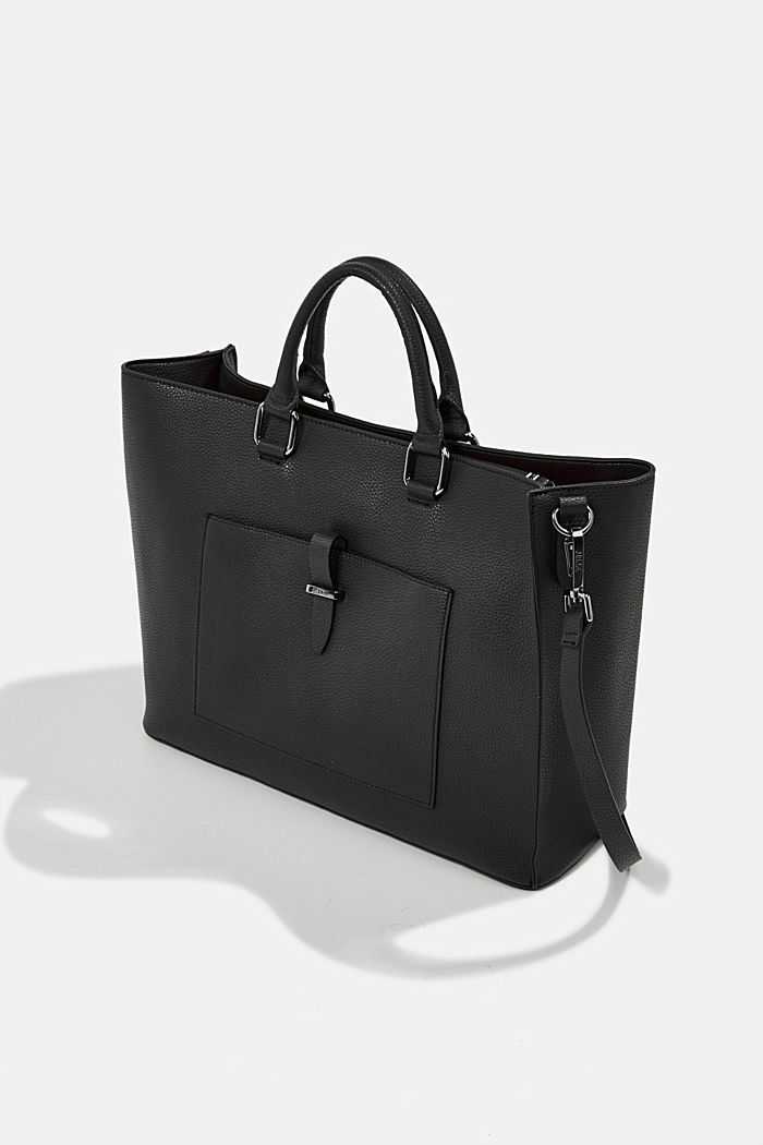 Vegan: Business bag with a laptop pouch, BLACK, detail image number 2