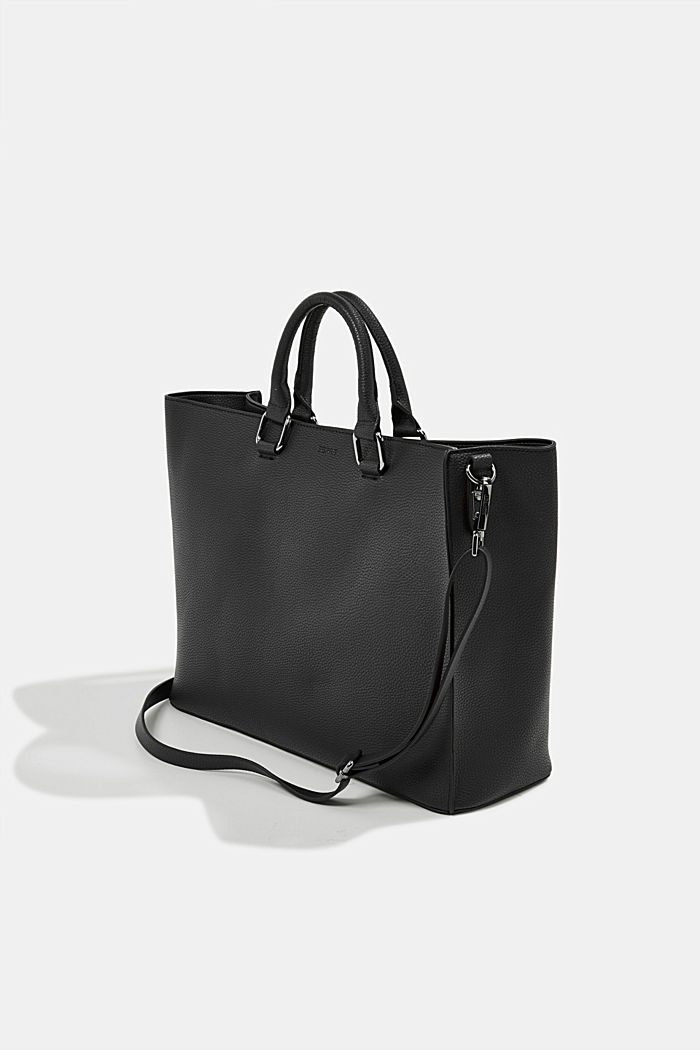 Vegan: Business bag with a laptop pouch, BLACK, detail image number 5