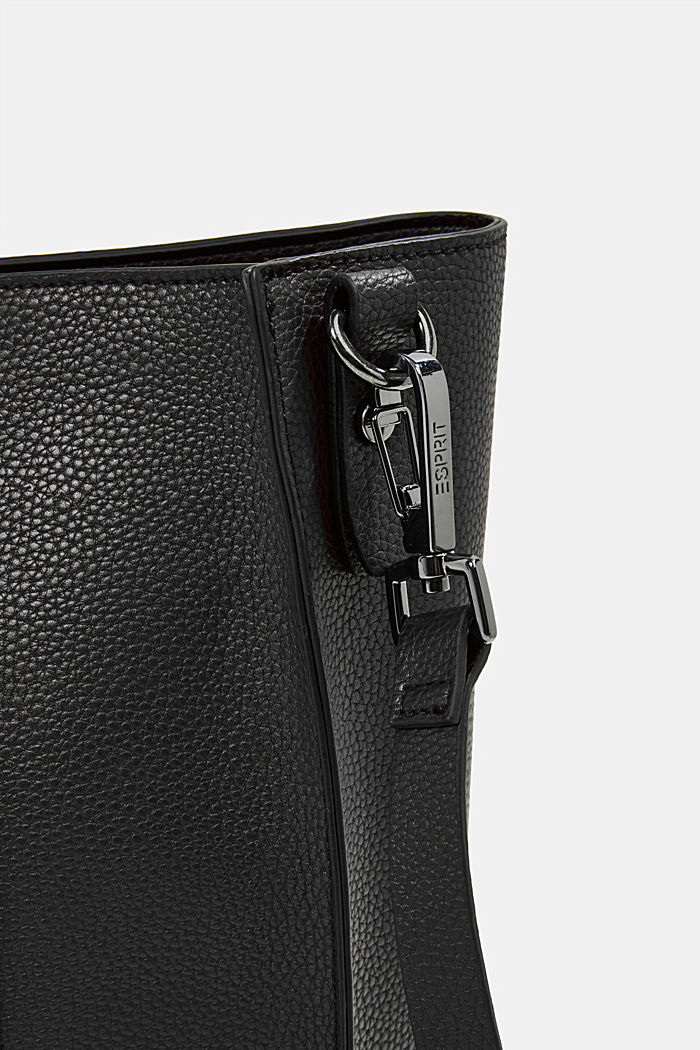 Vegan: Business bag with a laptop pouch, BLACK, detail image number 3