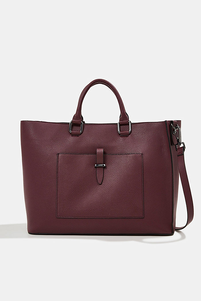 Vegan: Business bag with a laptop pouch, BORDEAUX RED, detail image number 0
