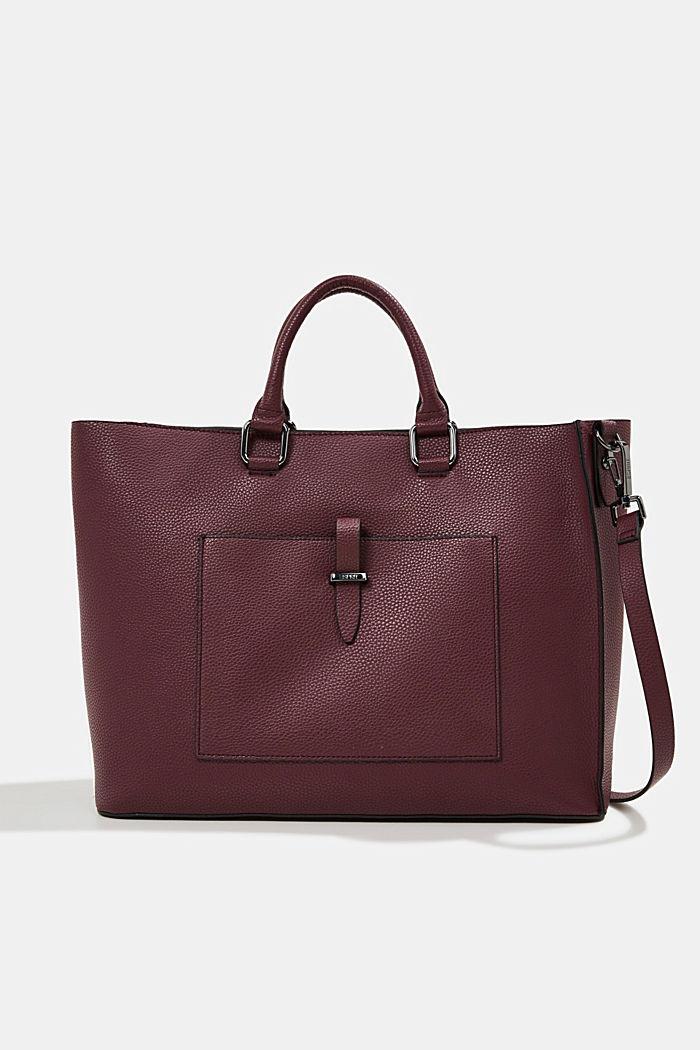 Veganský produkt: business taška s obalem na notebook, BORDEAUX RED, detail image number 0
