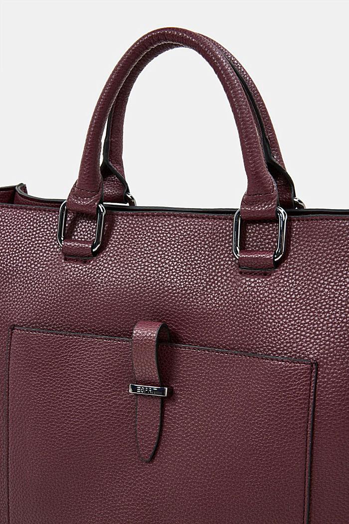 Veganský produkt: business taška s obalem na notebook, BORDEAUX RED, detail image number 3