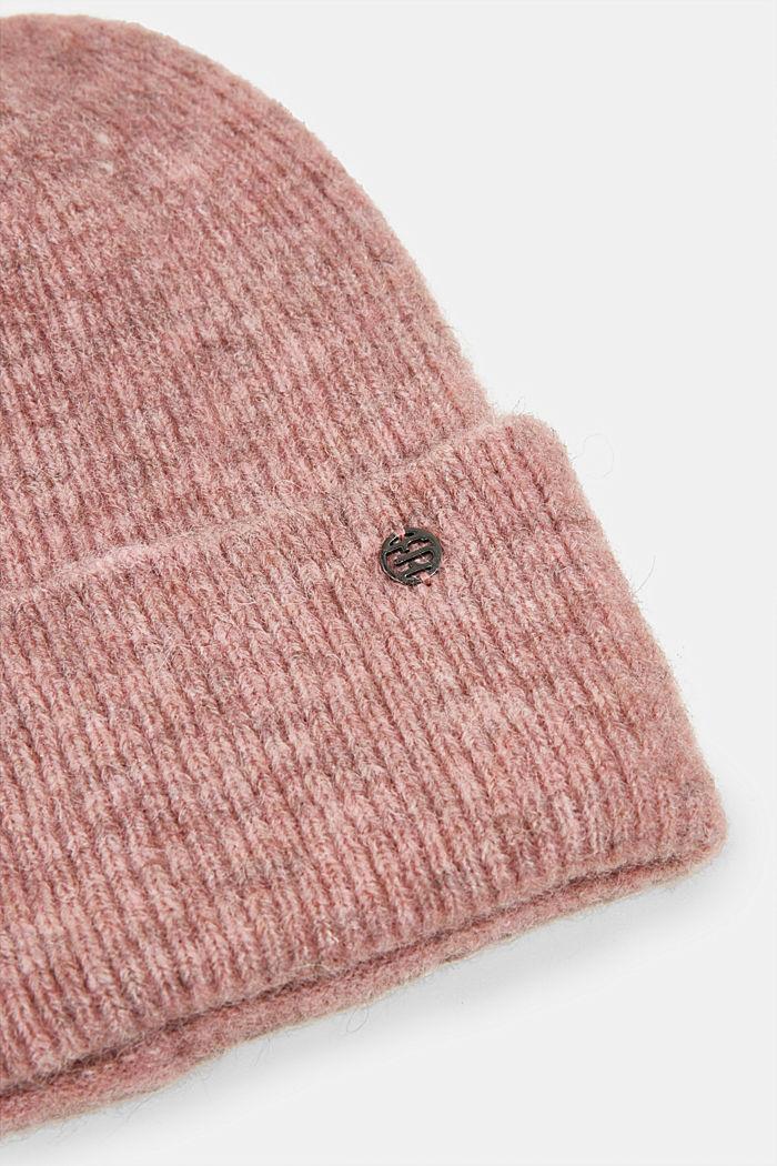 Wool blend: alpaca blend beanie, MAUVE, detail image number 1