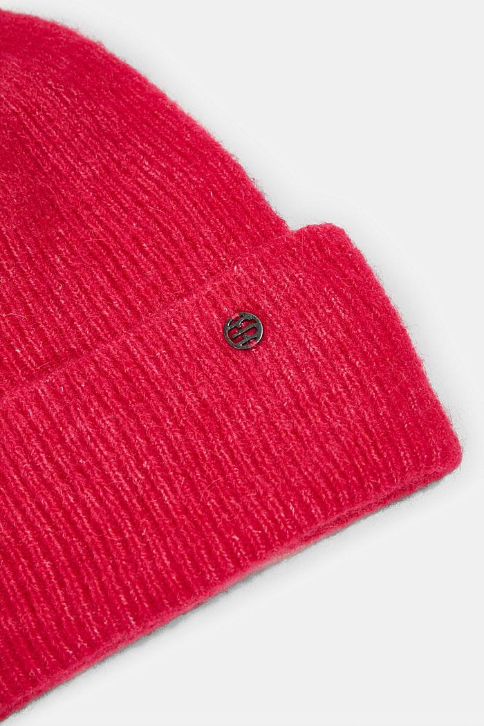 Mit Wolle: Beanie aus Alpaka-Mix, PINK FUCHSIA, detail image number 1