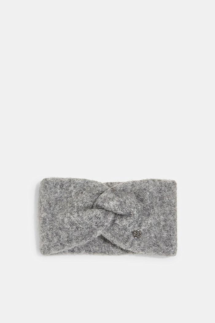 Wool blend: alpaca blend headband, GUNMETAL, detail image number 0