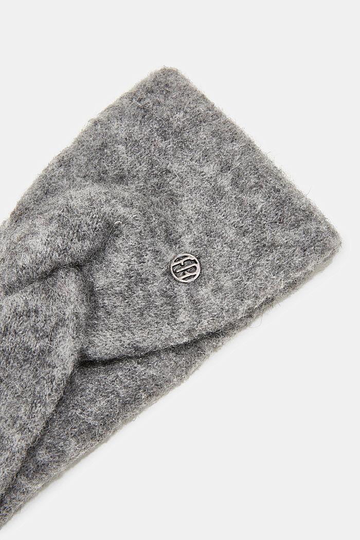 Wool blend: alpaca blend headband, GUNMETAL, detail image number 1