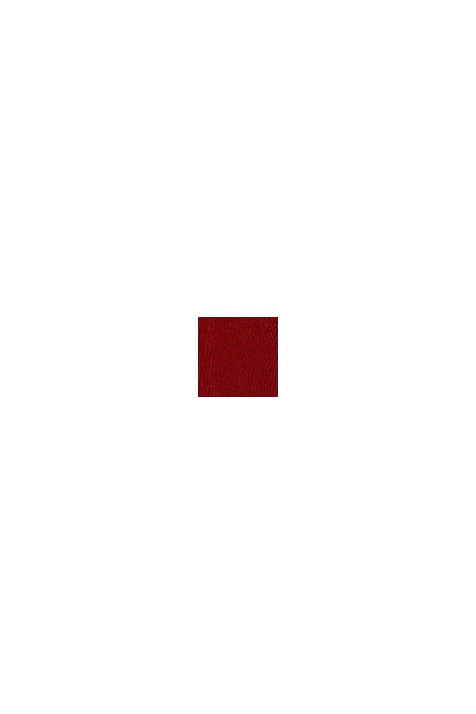 À teneur en cachemire: le bonnet en laine mélangée, RED, swatch