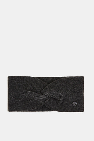 With cashmere: wool blend headband