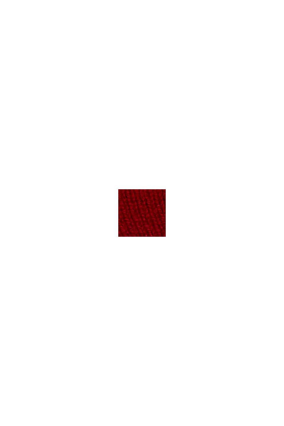 Med kashmir: pandebånd i uldblanding, RED, swatch