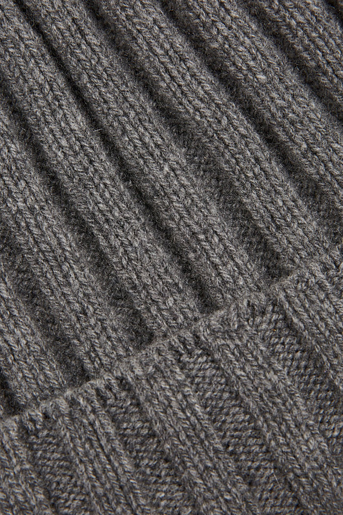Recycled: cashmere hat, MEDIUM GREY, detail image number 1