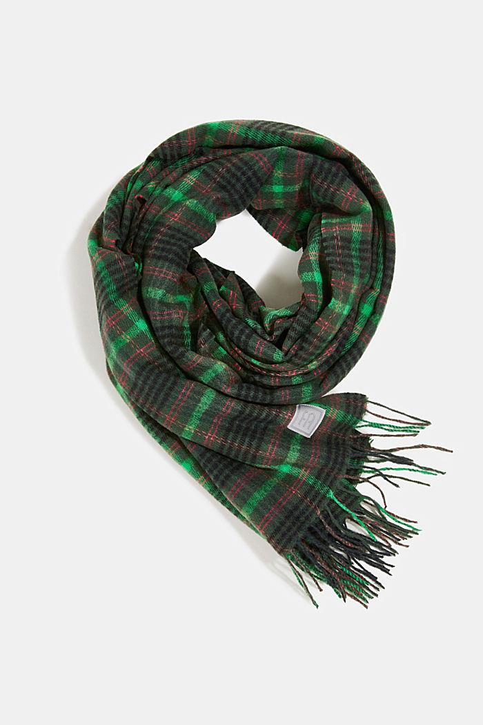 Recycled: Check scarf